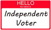 Hello I am an Independent Voter — Stock Photo