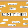 Identity Theft Corkboard Word Concept — Stock Photo