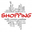 Shopping Word Cloud Concept in red & black — Stock Photo #12552045