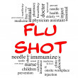 Flu Shot Word Cloud Concept in red & black — Stock Photo #12553395