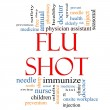 Stok fotoğraf: Flu Shot Word Cloud Concept