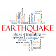 Earthquake Word Cloud Concept — Stock Photo