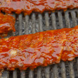 Ribs on the grill — Stock Photo