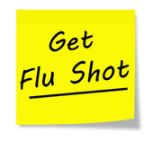 получить прививки от гриппа — Стоковое фото