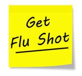 Erhalten sie grippeschutzimpfung — Stockfoto
