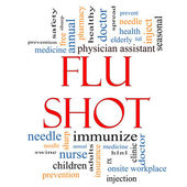 Flu Shot Word Cloud Concept — Stock Photo
