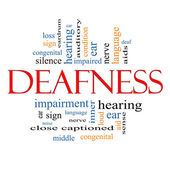 Deafness Word Cloud Concept — Stock Photo