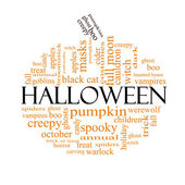 Halloween word cloud concept in Pumpkin Shape — Stock Photo