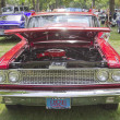 Front view of a 1963 red Ford Fairlane — Stock Photo #12600525