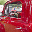 1950 Red Ford F1 Pickup Interior — ストック写真