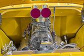 雪佛兰 1955年 3100 皮卡发动机 — 图库照片