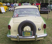 1959 Nash Metropolitan Checker Taxi Cab Rear — Stock Photo