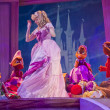 Cinderella's dress and the mice — Stock Photo