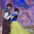 Stock Photo: Pretty Snow White dancing with Prince