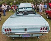 Aqua 1967 ford Mustang-Rückansicht — Stockfoto