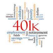 401k Word Cloud Concept — Stock Photo
