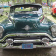 Blue Oldsmobile 88 front view - Stock Photo