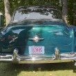 Blue Oldsmobile 88 rear view - Stock Photo
