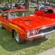 Постер, плакат: 1972 Orange Dodge Challenger