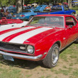 Постер, плакат: Red White Chevy Camaro 327