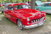 Cherry Red 1950 Merc — Stockfoto