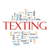 Texting Word Cloud Concept — Stock Photo
