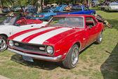 Red White Chevy Camaro 327 — Stock Photo