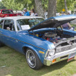 Stock Photo: 1971 blue Chevy Nova