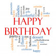 Happy Birthday Word Cloud Concept — Foto de Stock