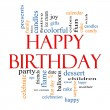 Happy Birthday Word Cloud Concept — Stock Photo