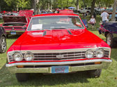 1967 Chevy Chevelle SS Red front view — Foto Stock