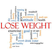 Lose Weight Word Cloud Concept — Stock Photo