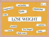 Lose Weight Corkboard Word Concept — Stock Photo