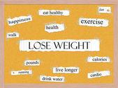 Förlora vikt anslagstavlan ordet koncept — Stockfoto