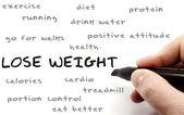Verlieren sie gewicht hand schreiben konzept — Stockfoto