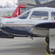 North Dakota Piper Plane close up - Stock Photo