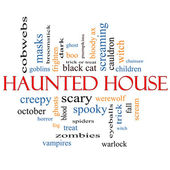 Haunted House Word Cloud Concept — Stock Photo