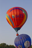 IMTS & Jordan Balloon crossing paths — Stock Photo