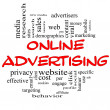 Online Advertising Word Cloud Concept in red & black — Stock Photo #13033769