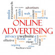 Online Advertising Word Cloud Concept — Stock Photo