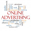 Online Advertising Word Cloud Concept - Stock Photo
