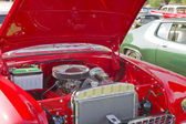 Red & White 1955 Chevy Bel Air Engine — Stock Photo