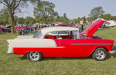 Red & White 1955 Chevy Bel Air — Stock Photo