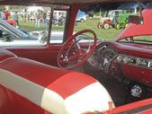 Red & White 1955 Chevy Bel Air passenger inside — Foto Stock