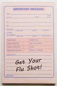 Mensaje importante vacúnese contra la gripe — Foto de Stock