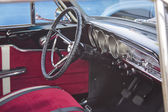 1963 Red Ford Fairlane Interior — 图库照片