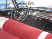 1963 Red Ford Fairlane Back Seat View — Stockfoto