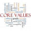 Core Values Word Cloud Concept — Stock Photo