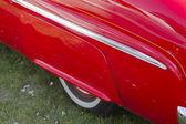 Panel trasero rojo 1950 merc — Foto de Stock