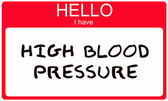 Hello I have High Blood Pressure — Stock Photo